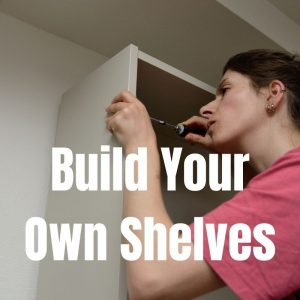 diy homeschool bookshelves
