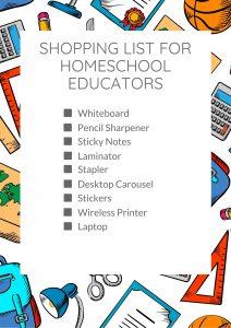 Shopping List for Homeschool Educators